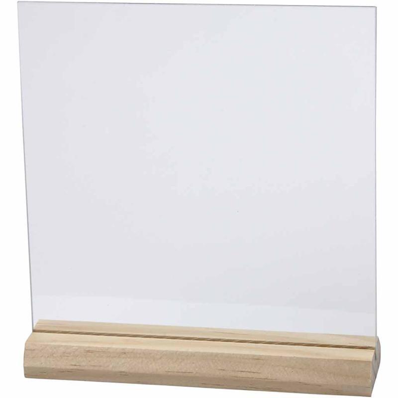 Glazen plaat met houder afm 15 5 15 5 cm beashobbyplaneet for Glazen plaat