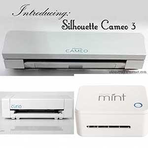 Silhouette Cameo, Silhouette Curio, Silhouette Mint, Silhouette Alta + benodigheden