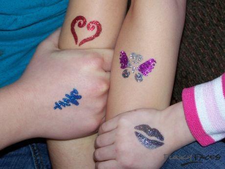 Artikelen voor Glitter Tattoos