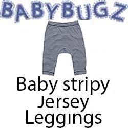 Baby stripy Jersey Leggings Vóór maandag besteld, worden woensdag geleverd