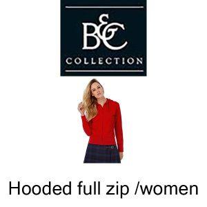B421F Hooded full zip /women Vóór maandag besteld, worden woensdag geleverd