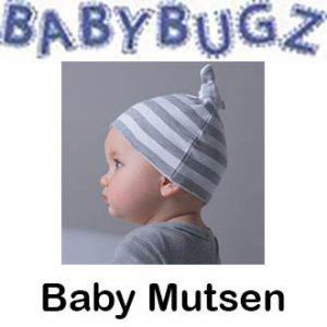Baby Mutsen met strepen Vóór maandag besteld, worden woensdag geleverd