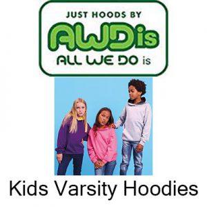 Kids Varsity Hoodies Vóór maandag besteld, worden woensdag geleverd