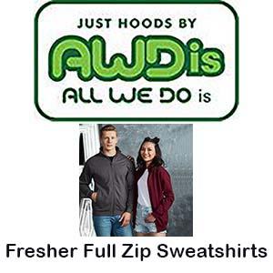 JH047 Fresher full-zip sweatshirt Vóór maandag besteld, worden woensdag geleverd
