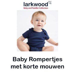 Baby Rompertjes met korte mouwen Vóór maandag besteld, worden woensdag geleverd