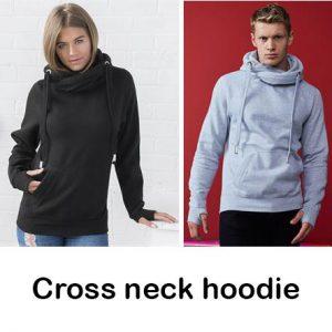 Cross neck hoodies. Unisex. Vóór maandag besteld, worden woensdag geleverd