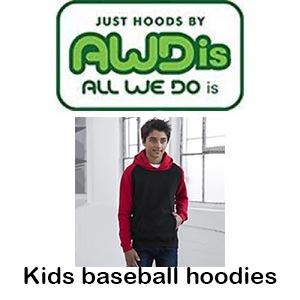 JH09J Kids Baseball Hoodies