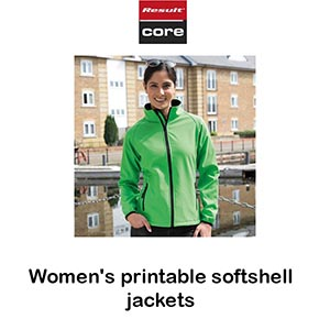Women's Printable Softshell Jackets Vóór maandag besteld, worden woensdag geleverd