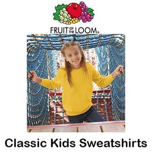 SS201 Classic 80/20 Kids Set-in Sweatshirts Vóór maandag besteld, worden woensdag geleverd